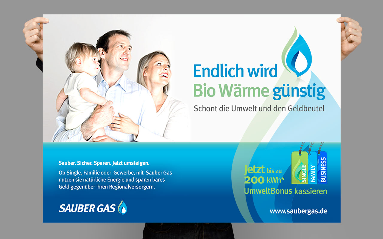 Sauber Gas – Brand Concept
