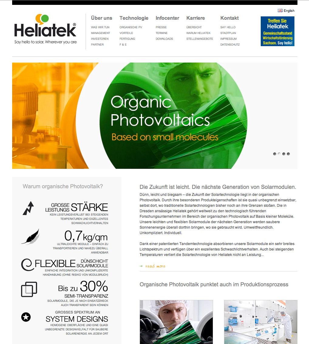 Heliatek – Umbrella Brand Concept